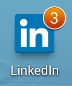 LinkedIn app icon with notifications